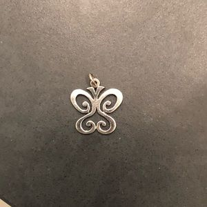 Spring silver butterfly pendant by James Avery